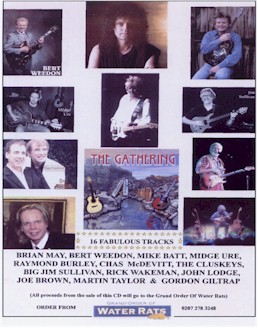 With Brian May, Rick Wakeman, Midge Ure, John Lodge [Moody Blues], Gordon Giltrap, Mike Batt for a special benefit album.