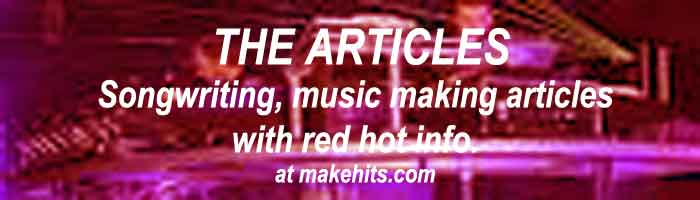 The acclaimed articles on music making, songwriting, producing